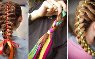 Цветы из лент в косичку. Изящная коса с лентой для стильных модниц с пошаговой техникой плетения. Плетение с лентами