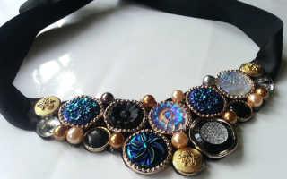 Винтажное ожерелье из пуговиц своими руками. Украшения из пуговиц Бижутерия из пуговиц своими руками