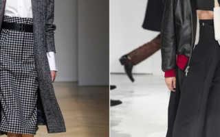 Комбинированные юбки из шерсти необычных фасонов. Модные и элегантные юбки зимнего сезона и демисезонные
