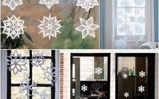 Украсить окно на новый год из бумаги. Зимний пейзаж зубной пастой на окне. Снежинки из пластиковых бутылок