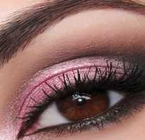 Макияж в розовых тонах для карих глаз. Вечерний макияж Smoky eyes. Основные правила естественного мейкапа