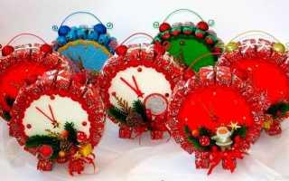 Новогодние подарки из конфет своими руками. Новогодние подделки из конфет Снеговик из конфет на новый год