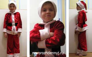 Как сшить курточку санты для малыша. Как сшить детский новогодний костюм: мастер класс с фото. Идеи создания образа