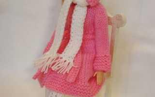 Как связать одежду для куклы: спицами, крючком, для куклы барби, беби бон, монстр хай. Оранжевое платье для барби