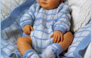 Бесшовный комбинезон для новорожденных. Комбинезон спицами для новорожденных. Описание, схемы, узоры