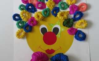 """Игрушка клоун своими руками из бумаги. Клоун из бумаги: поделки из кругов. Шаблоны и трафареты для аппликации """"Клоун"""""""