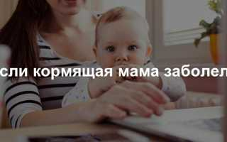 Кормление грудным молоком при простуде у мамы. Простуда у кормящей мамы — можно ли продолжать кормить грудью