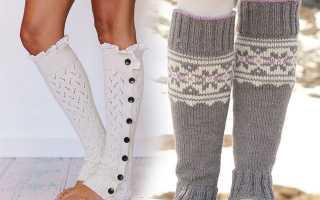 Как вязать детские гетры для девочек. Гетры спицами: различные способы вязания. Бело-черные гетры с бабочками